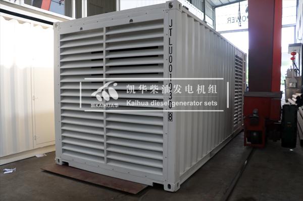 出口苏丹600KW集装箱发电机组今日成功出厂